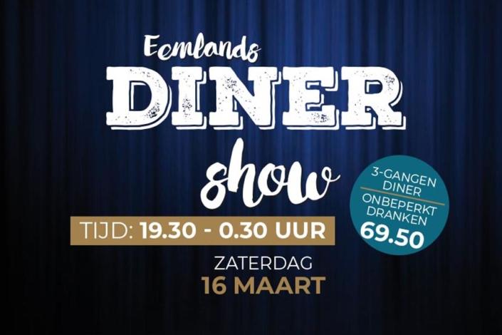 Eemlands Diner Show 16 maart 2019